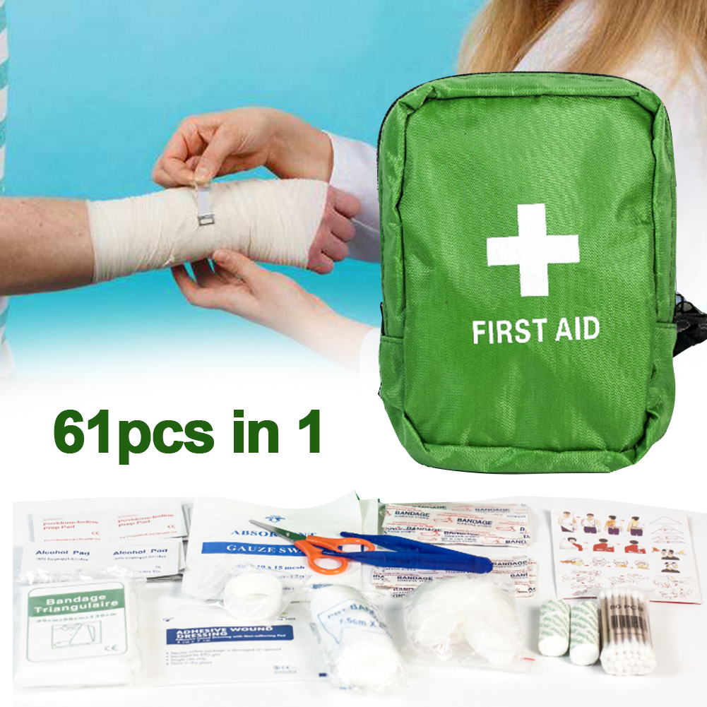 61pcs/set Waterproof Oxford Cloth Wilderness Safe Camping Mini Outdoor Sport First Aid Bag Treatment Pack Emergency Kit Medical61pcs/set Waterproof Oxford Cloth Wilderness Safe Camping Mini Outdoor Sport First Aid Bag Treatment Pack Emergency Kit Medical