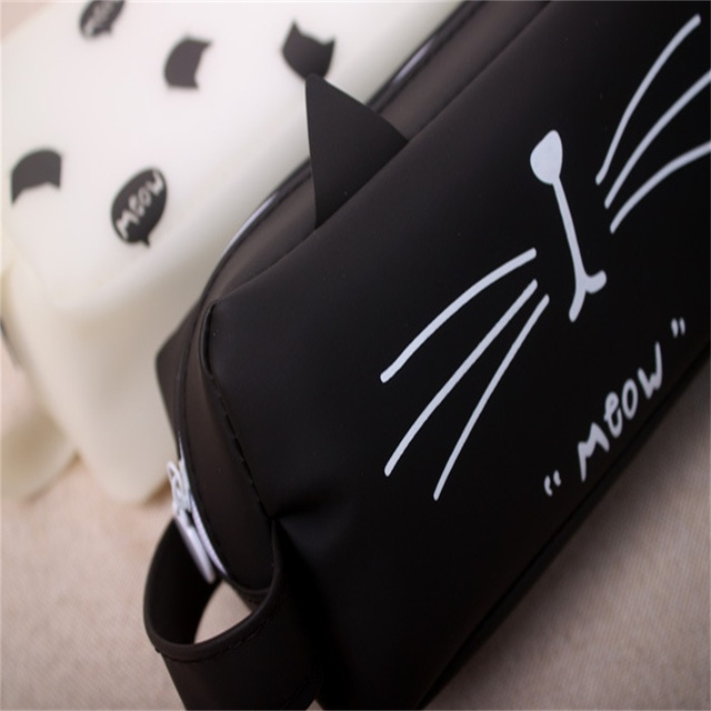 Cute Cat Patterned Pencil Case