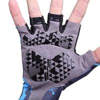 1 pair Professional Cycling Gloves Half Finger Gloves Printing Safety Anti Slip Shock Biking Sports Gloves New