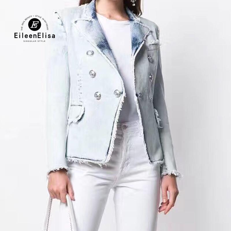 Denim Jacket Women 2019 Luxury Brand Jacket with Long Sleeves Woman European Jacket High Quality