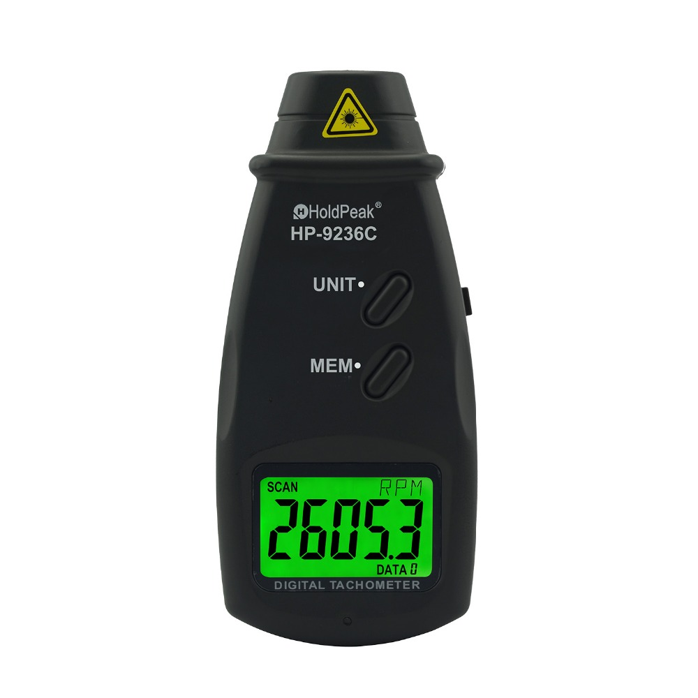 Tachymètre Laser HoldPeak HP-9236C compteur de vitesse outil de Diagnostic numérique Photo LCD RPM compteur moteur tachymètre sans contact