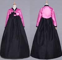 Black Oriantal Costume Women Korean Traditional Hanbok Lady National Dress Long Sleeve Female Korean Ancient Cosplay Cloth 16