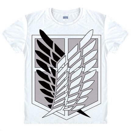 Anime japonés camiseta Legión de ropa Ropa Shingeki No Kyojin Camiseta Attack On Titan camiseta gigante de manga corta