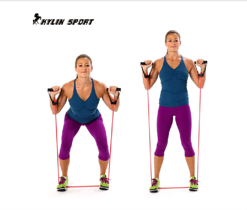 Yoga Exercise Resistance Band Stretch Fitness Tube Cable