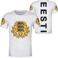 Молодежная футболка с надписью «estonians eesti», с принтом в виде национального флага, для подростков, бесплатная доставка, одежда для колледжа