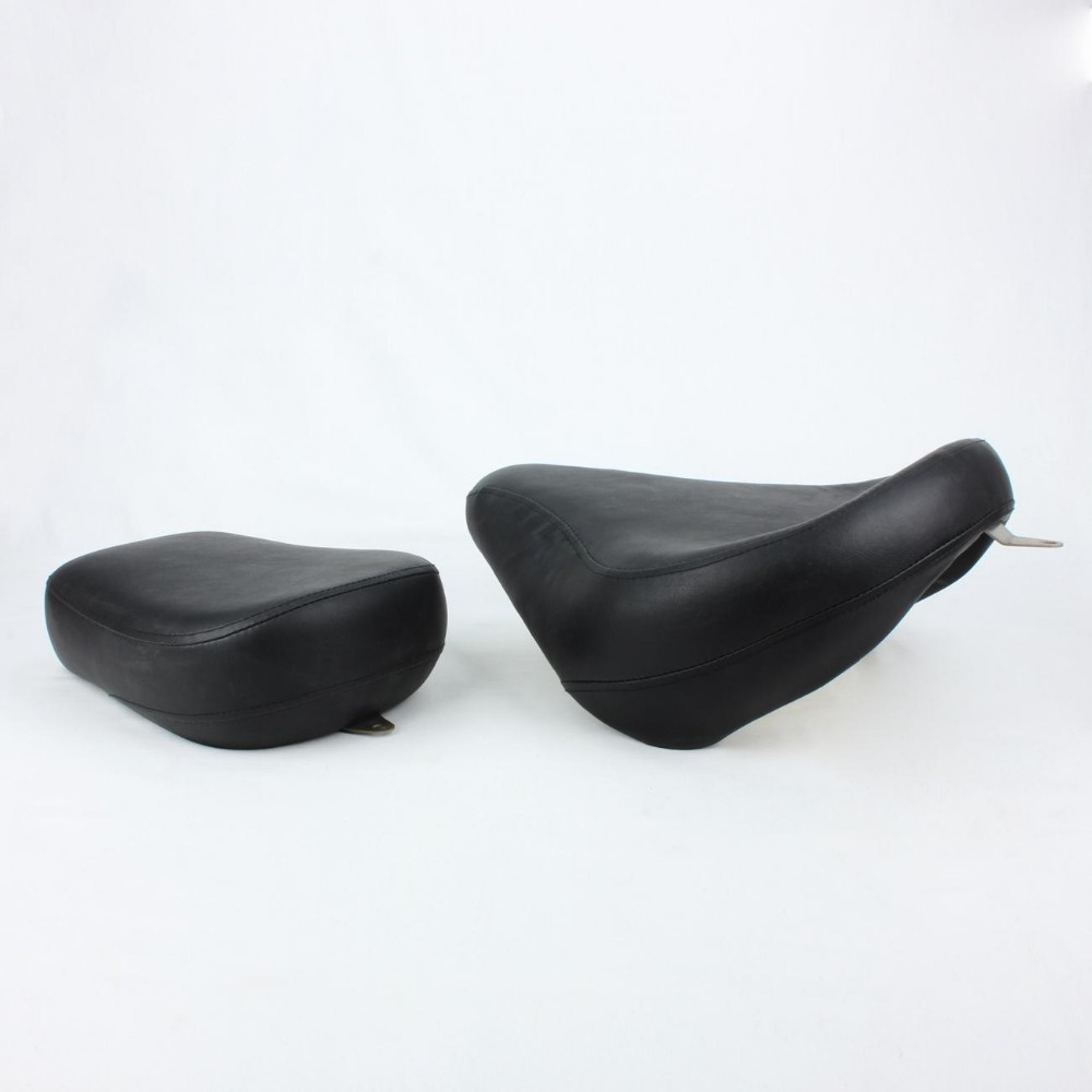 Black Motorcycle Front Driver Rear Passenger Cushion Seats for Yamaha V-Star 650 Classic ( All Year ) EMS Fast delivery