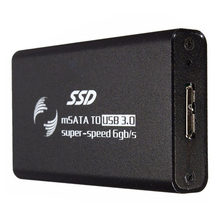 USB Three.zero HDD enclosure mSATA Exterior Enclosure Adapter SSD Case Shell New, Black
