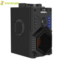 HYASIA Wireless Bluetooth Speaker Stereo Subwoofer Bass Speakers Column Soundbox Support FM Radio TF AUX USB Remote Control