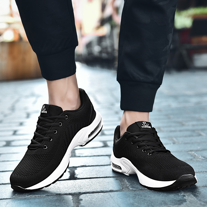Mens sports shoes Athletic Sneakers non-slip flying woven breathable wear-resisting Superstar running shoes