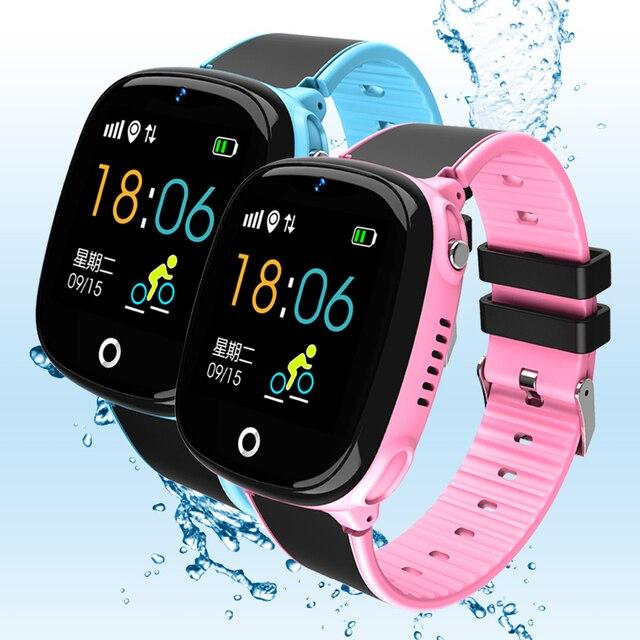 GPS akıllı saat Çocuk Bluetooth Pedometre SmartWatch Su Geçirmez Giyilebilir Cihaz SOS Çağrı Çocuklar için Güvenli