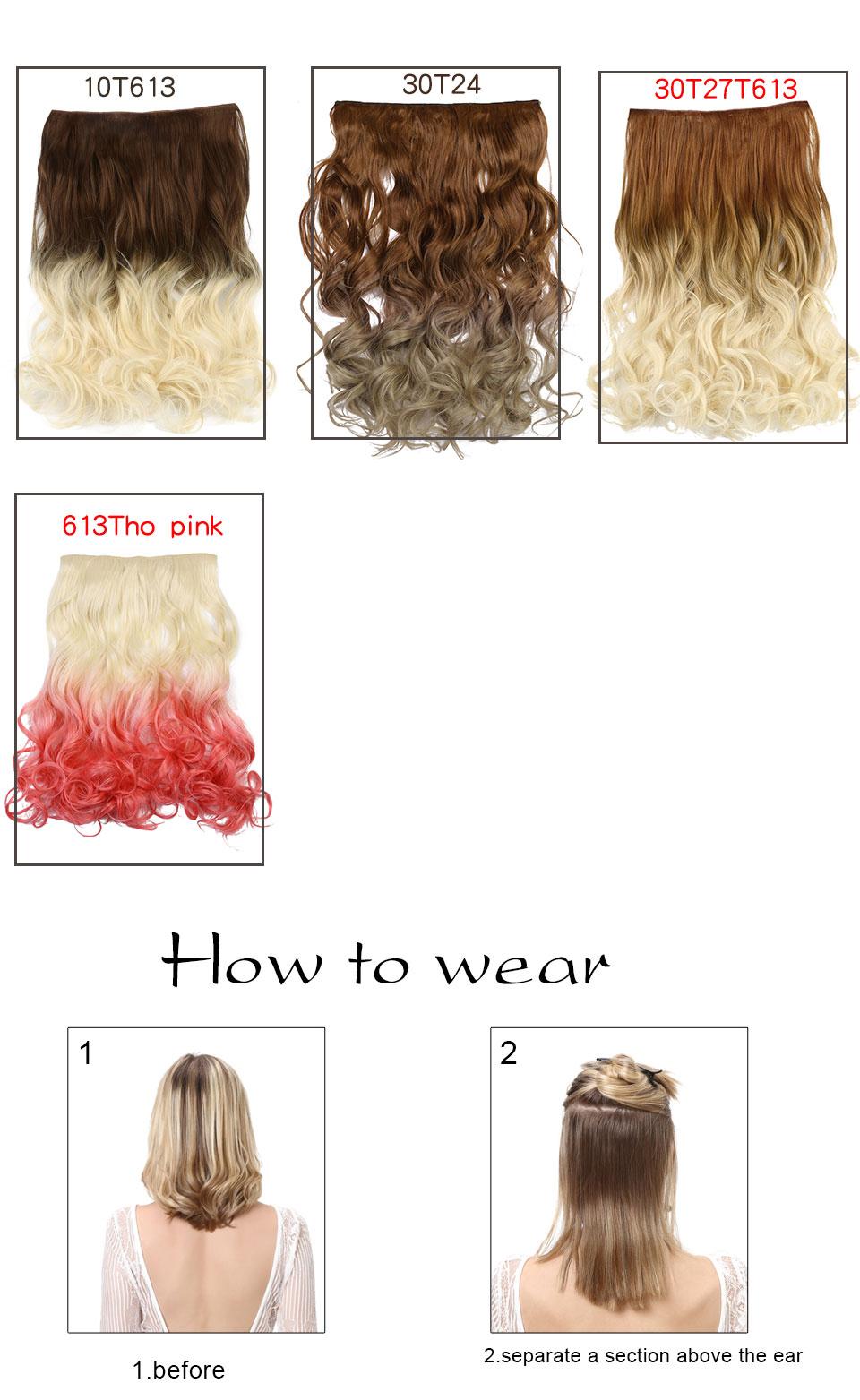 Extensions de Cheveux Ondulés Synthétique