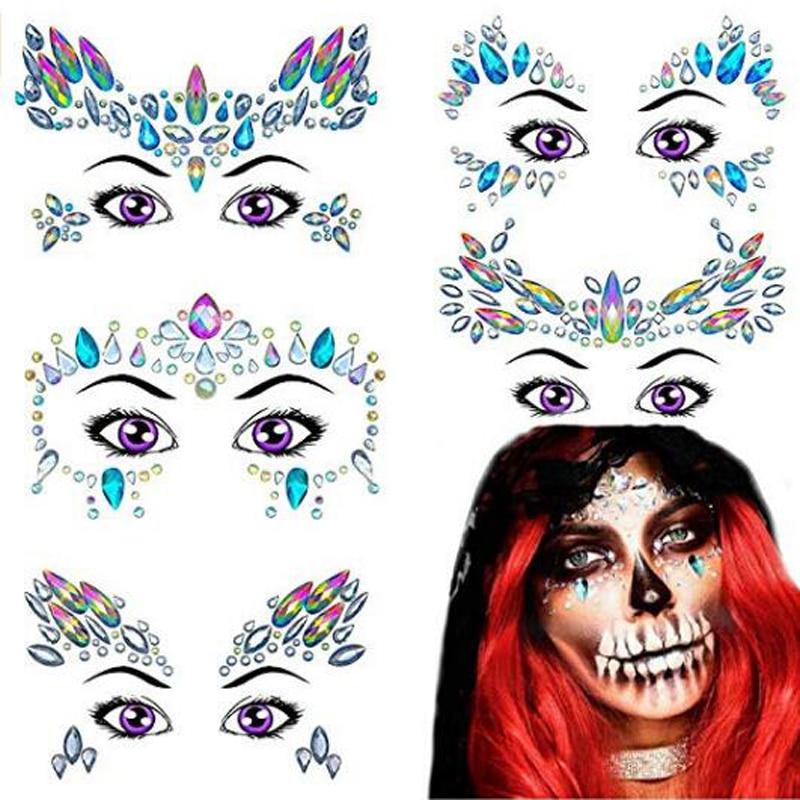 Etiqueta do Tatuagem Maquiagem Beleza Adesivos 5 Pçs/lote
