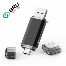 BRU OTG 30 High Speed USB Flash Drive for Type-C Smartphone PenDrive 16G 32G 64GB 128GB Usb Flash disk Memory Stick custom logo
