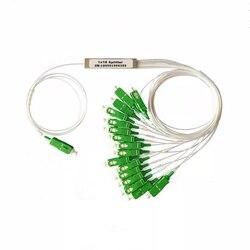 9 sztuk/paczka PLC rozdzielacz optyczny SC APC SC UPC 1X16 FTTH rozdzielacz światłowodowy FBT sprzęg optyczny jednomodowy Simplex rura stalowa