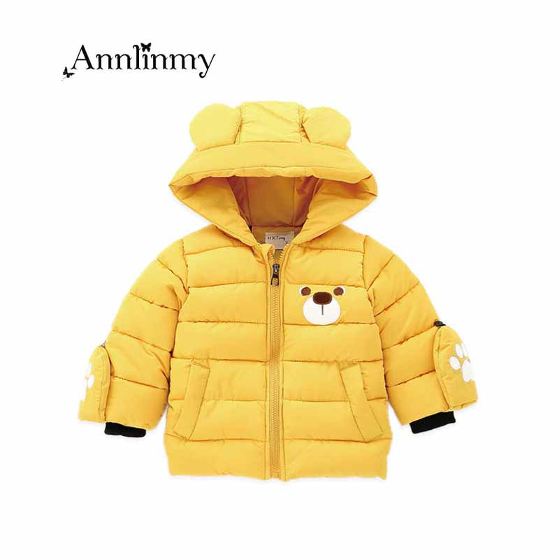 kids boys coat 2018 autumn winter infants clothing casual Thick cotton baby hooded jacket for 0-2 age winter jacket for baby boy yingzifang new autumn winter baby coat boys girls cotton cute bear hooded coat casual kids jacket children clothing sports suit