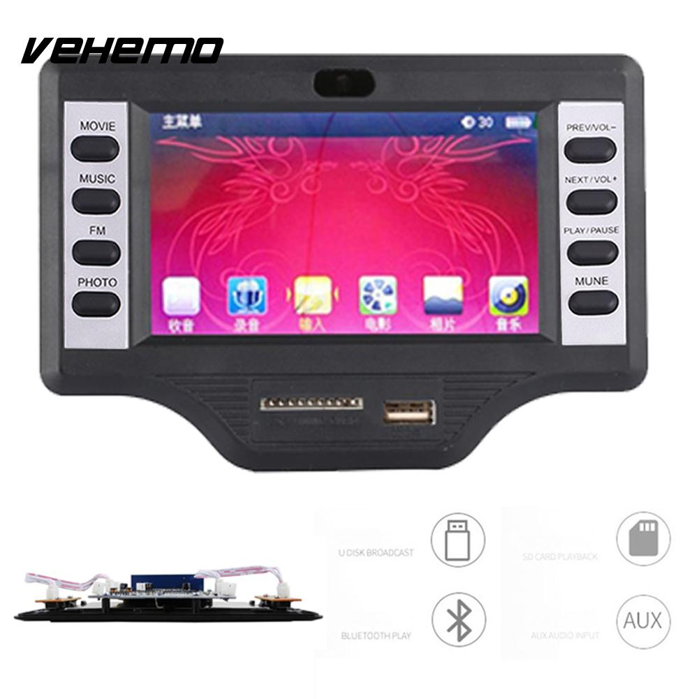 Vehemo TFT-LCD Screen Board Video Decoder Board Car Player MP5 Bluetooth Decoder Protable Universal Audio 4.3inch