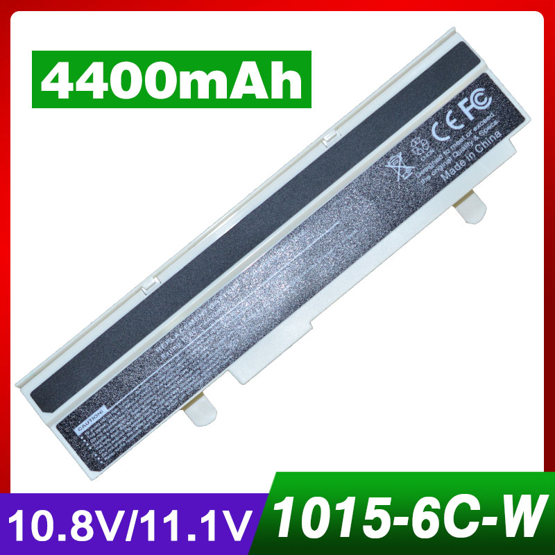 4400mAh laptop white battery for ASUS Lamborghini Eee PC VX65 VX6S VX6 EPC 1011PX-HW 1011 1015 1016 1215 R011 R051