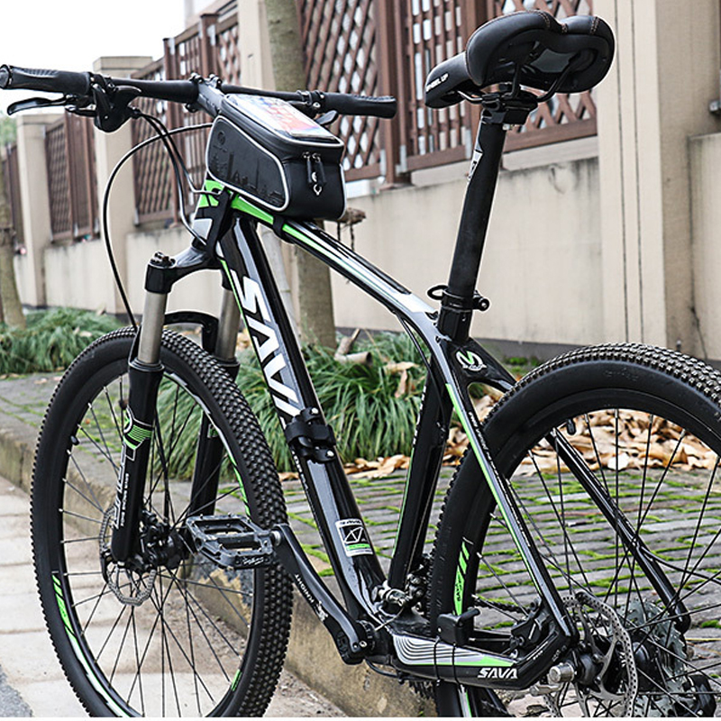 Купить с кэшбэком WHEEL UP 6.0 Inch Touch Screen Front Top Tube Bicycle Bags Rainproof MTB Road Cycling Bags Bike Cell Phone Cases New Selling