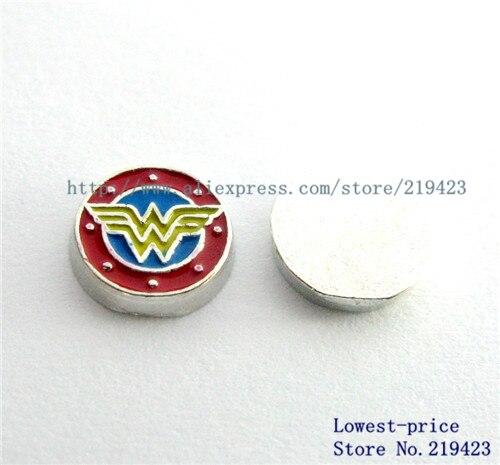 FC1012 20pcs wonder woman floating locket charm DIY Fit for memory Locket Free shipping !