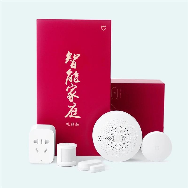 Xiaomi Mijia Smart Home Kit Containing Gateway Zigbee Socket Door And Window Sensor Human Body Sensor