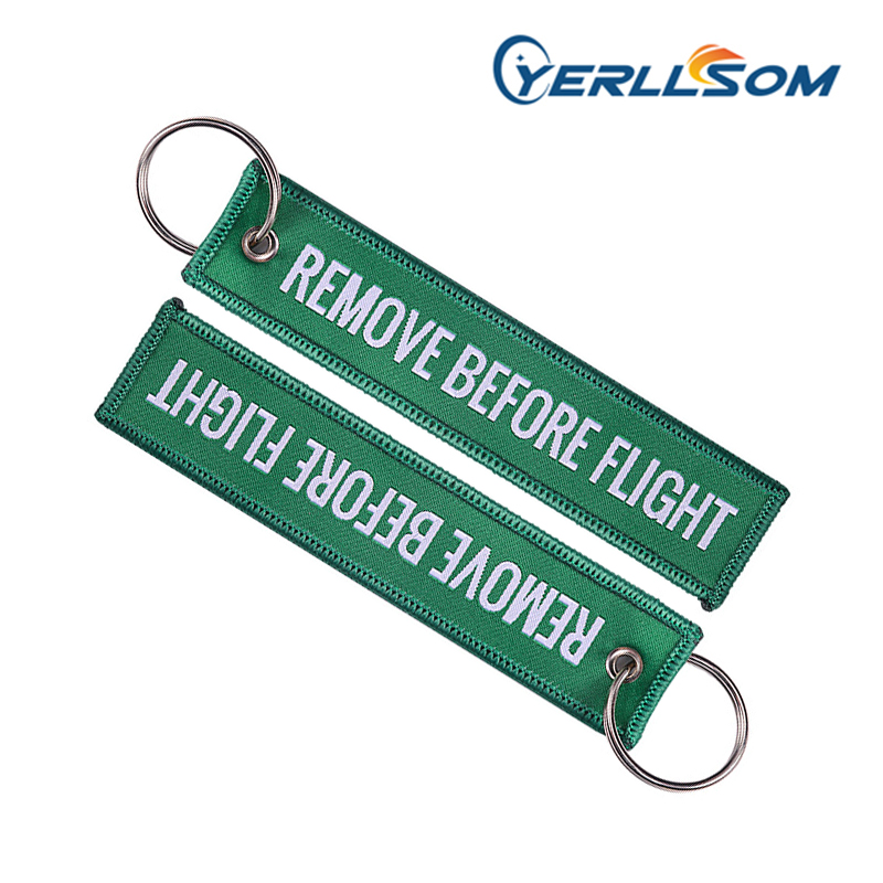 YERLLSOM 300PCS Lot High Quality Wholesale Cheap Twill Promotion Machine Embroidery Custom Woven keychain WH014