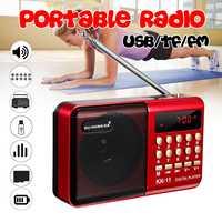Mini portátil Radio de mano Digital FM USB TF MP3 reproductor altavoz recargable