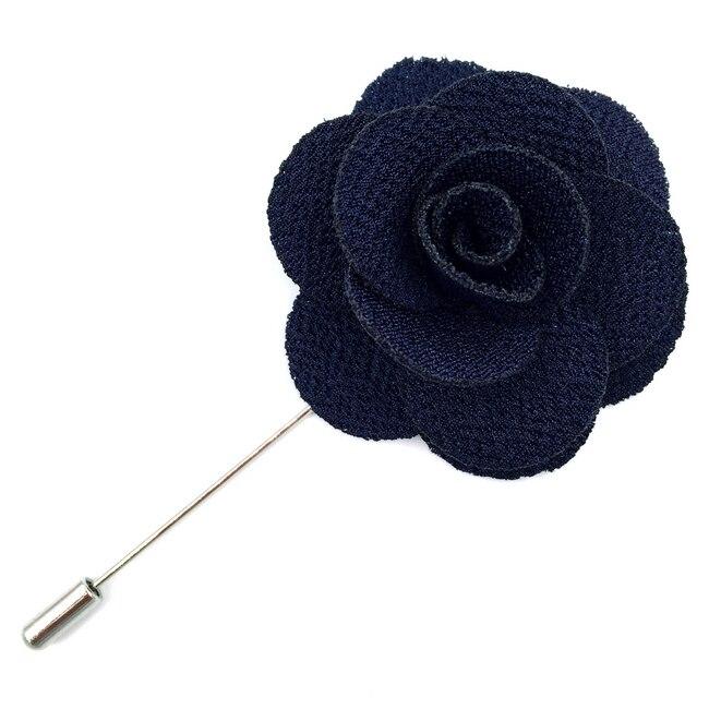 Красочные мужские нагрудные Цветы шелковые свадебные классические аксессуары жениха Мода - Цвет: Синий