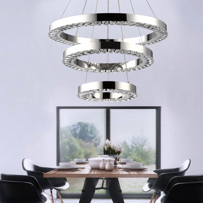 Modern LED Crystal Chandelier Lights Lamp avize For Living Dining Room Cristal Lustre Chandeliers Hanging Fixtures sitting room