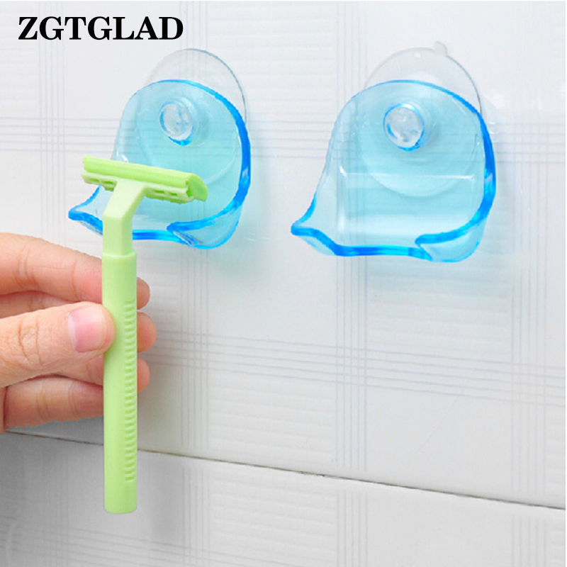 Buy ZGTGLAD 1 Pcs Resin Super Suction Cup Razor Rack Clear Blue Bathroom Razor Holder Suction Cup Shaver Storage Rack for $1.05 in AliExpress store