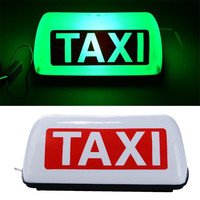 Green Light LED Taxi Cab Sign Roof Top Topper Car Super Bright Light Lamp Waterproof Indicator Light For the Car Taxi Lights