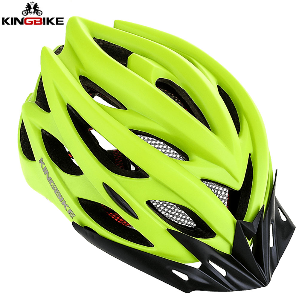 Helmet MTB Detachable-Visor Road-Bike Safty Ultralight KINGBIKE In-Mold with Outdoor