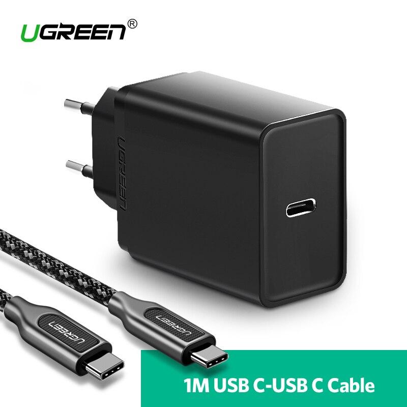 Ugreen 30 watt USB Typ C Ladegerät für Huawei P20 Pro Schnelle Handy Ladegerät für iPhone 8 Xs Max PD Ladegerät für Samsung Galaxy S9