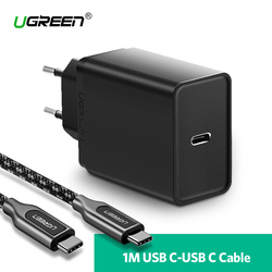 Ugreen 30W USB Type C Charger for Huawei P20 Pro Fast Mobile Phone Charger for iPhone 8 Xs Max PD Charger for Samsung Galaxy S9