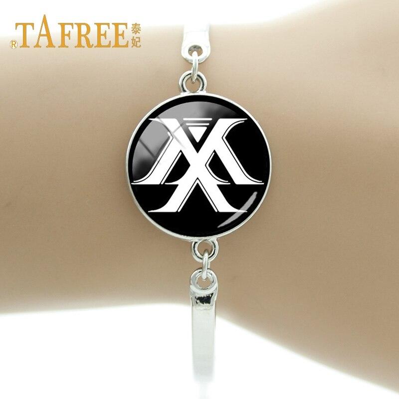 TAFREE Charm Delicate Bracelet Pop Men's Portfolio MONSTA X Art Personal Photo Fan Memento Bracelets Jewelry MN02