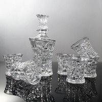 Fashion 7 piece crystal glass wine set wedding gift