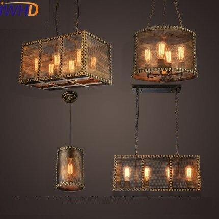 Iwhd Стиль Лофт Промышленные Винтаж подвесные светильники Кухня Ретро подвесной светильник Обеденная Ресторан светильников блеск