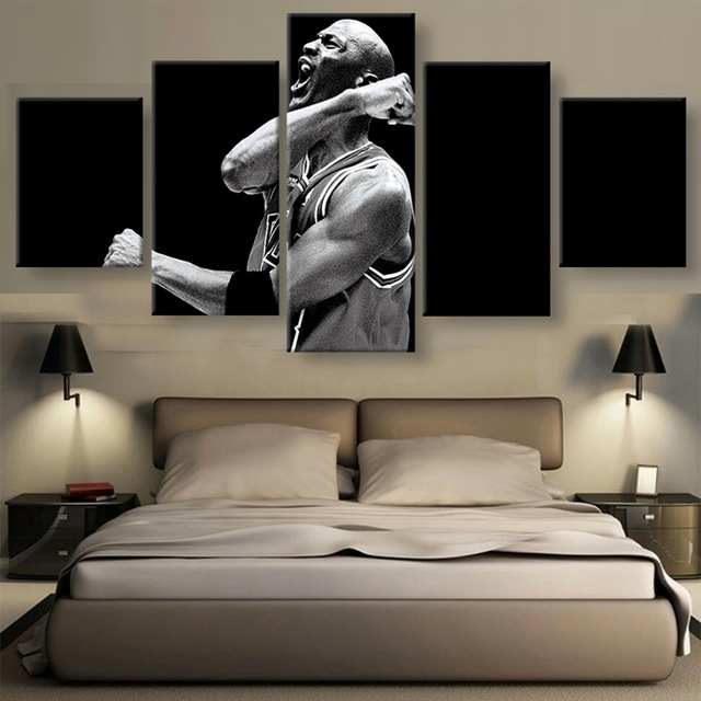 Canvas HD Printed Posters For Living Room Home Decoration 5 Pieces Sports Boy Paintings Modular Wall Art Pictures Framework