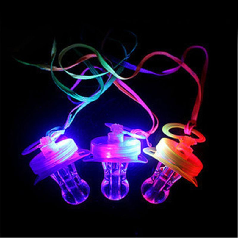 Original Kinder Schnuller Dummy Nippel Led Licht Blinkt Pfeife Für Bar Nacht Club Party Projekte Spielzeug
