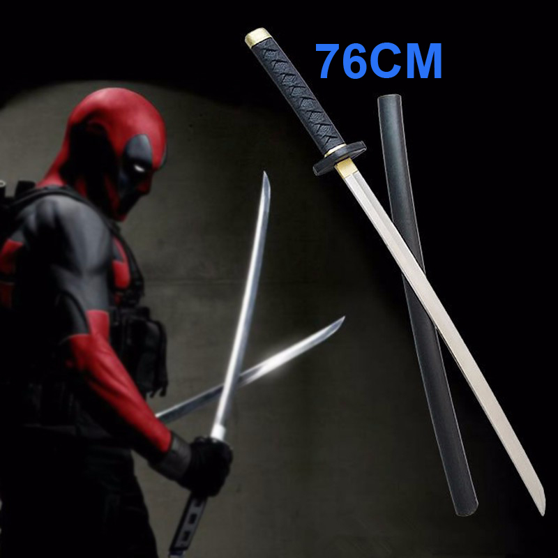 76cm Marvel Comics Deadpool Sword Movie Deadpool Figure Cosplay Weapon Props PU Swords Toys Gift for Kids Free Shipping