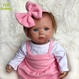 Soft silicone reborn baby doll 35cm alive girl baby doll for children xmas gift newborn bebes reborn bonecas(China)