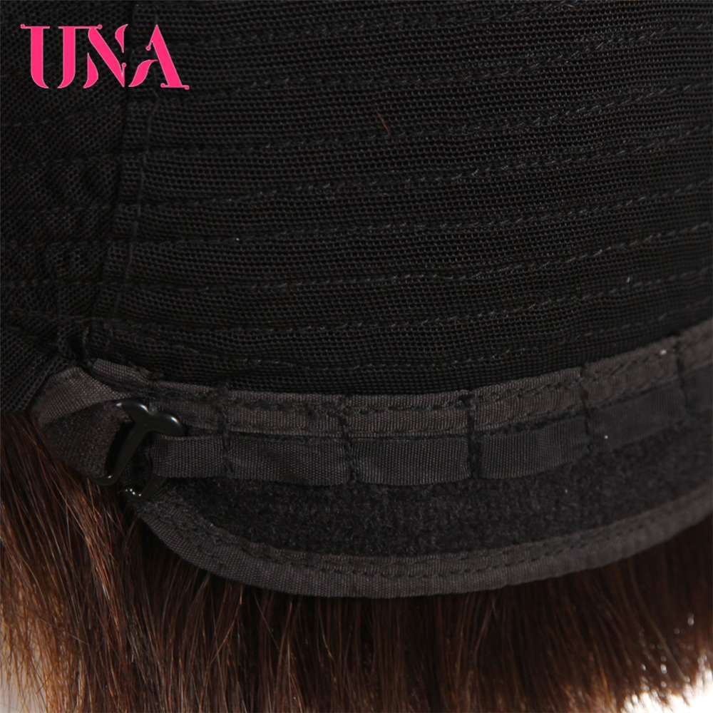 UNA Peruvian Straight Human Hair Wigs Hand Tied Lace Wigs Non-Remy Hair 10