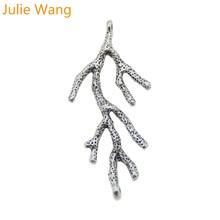Julie Wang, 10 шт., античное Серебрянное дерево, форма ветки, подвески, соединитель, подвеска, ручной работы, подвесные изделия, аксессуары для изготовления ювелирных изделий