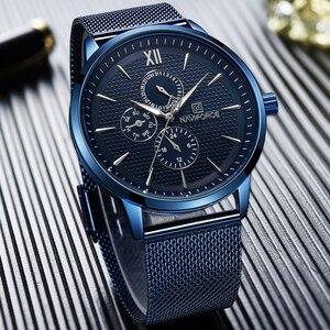 Image 3 - New Luxury NAVIFORCE Brand Mens Casual Watches 24Hour Luminous Hands Fashion Mesh Band Sport Quartz Watch Men Relogio Masculino