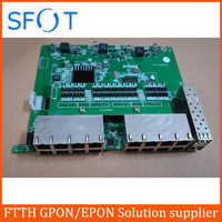 POE reverse Switch board without management, 2 Port SFP + 16 Port FE Rj45 Operational PD switch, with VLAN