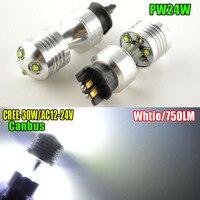 2x30 W Blanc 6000 K Non-polarité 12-24 V PWY24W PW24W 6SMD 750LM Auto LED Xenon Canbus Voiture DRL Ampoule Pour BMW F30 3 série