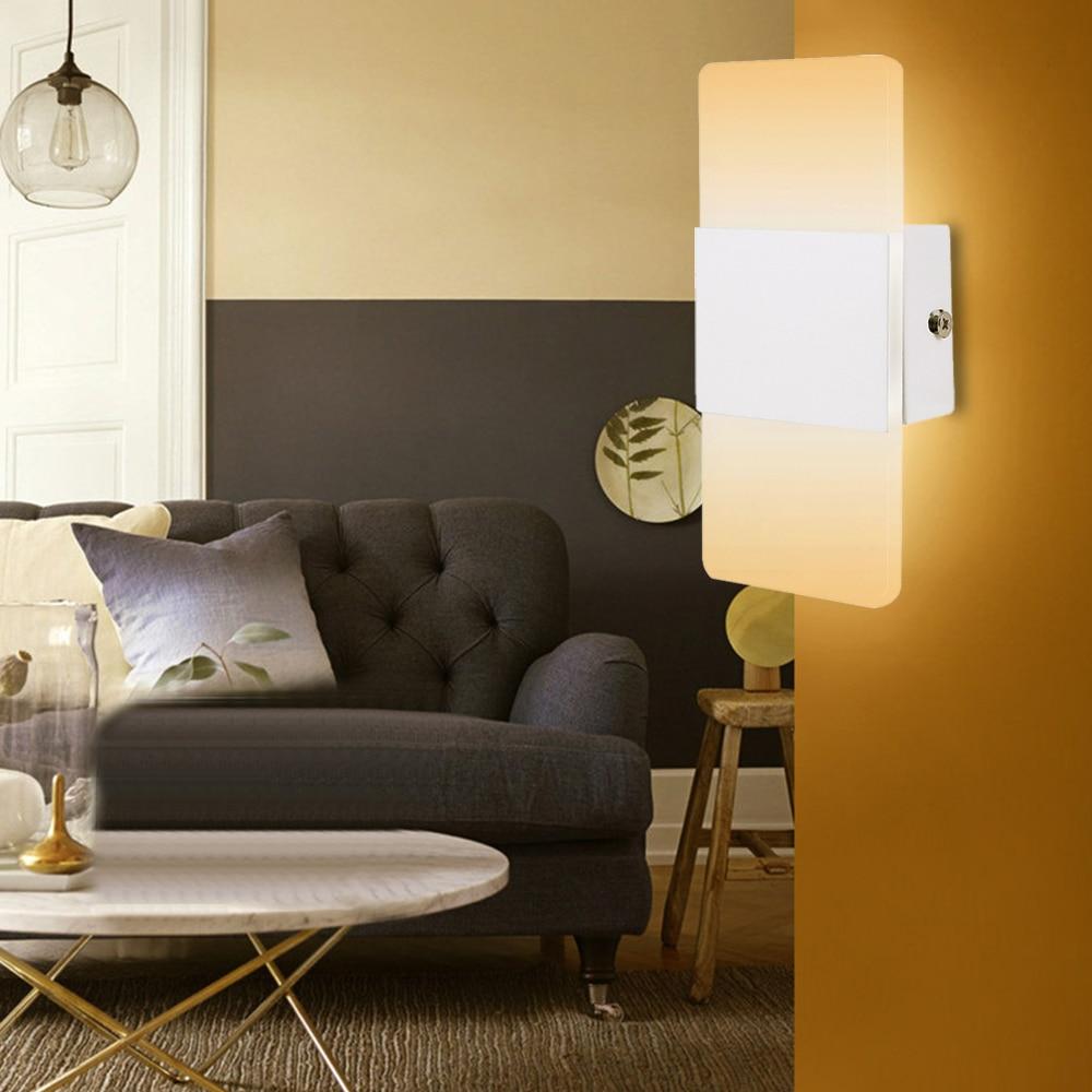 Everso Mini Led Acrylic Wall Lamp AC85 265V Wall Mounted ... on Wall Mounted Decorative Lights id=32964