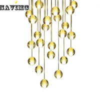 DIY Customized Meteor Crystal Chandeliers Lighting Fixtures Magic Crystal Ball Lustres De Cristal Lustres E