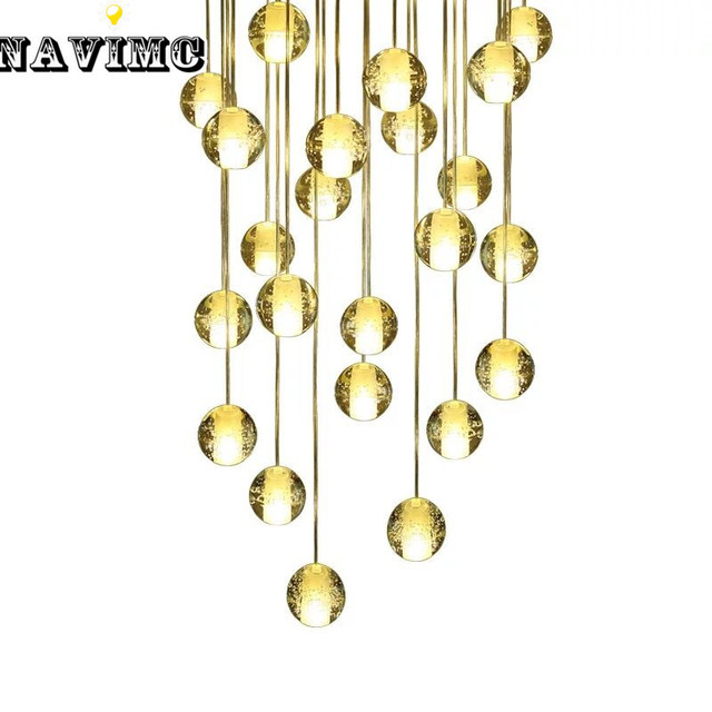 Diy Customized Crystal Chandeliers Lighting Magic Ball Meteor Style Lights Pendentes G4 Led Lamps