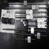 6se Linear Guideway Rail 3 Ballscrews Balls Screws 1605 350 750 1150mm BK12 BF12 3 Couplings