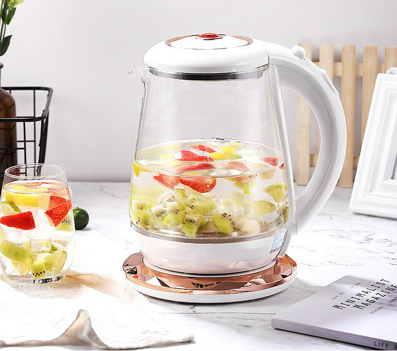 NEW Glass electric kettle transparent heat-resistant explosion-proof tea water household automatic power cut 1.8L high quality industrial used small power heater use in areas with explosion hazard 150w explosion proof heater
